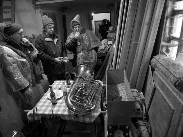 Růžičková masopustní koleda 2. února v Rychnově u Nových Hradů.
