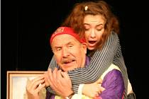 V komedii Antonína Procházky S tvojí dcerou ne, uvedené na scéně DK Metropol,  excelovali Petr Nárožný a Karolína Kaiserová.