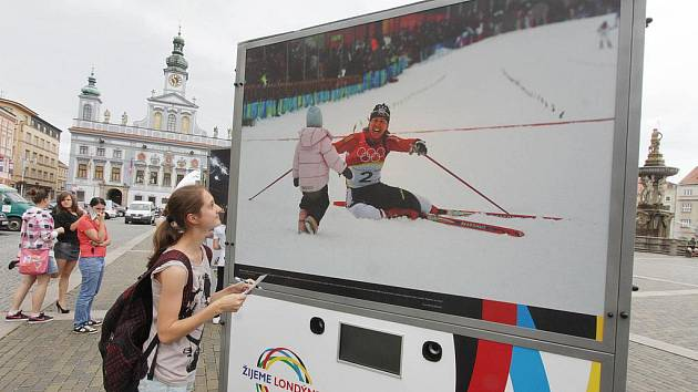 Studenti obdivují známé české sportovce.