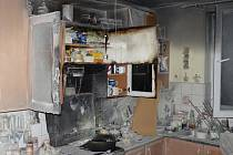 Požár kuchyně v Ledenicích.