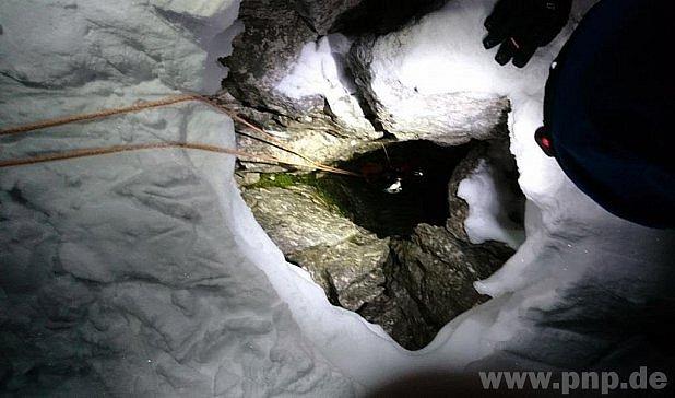 Místo dramatu horolezce na Dachsteinu.