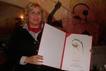 Hana Adámková dostala Cenu Charity.