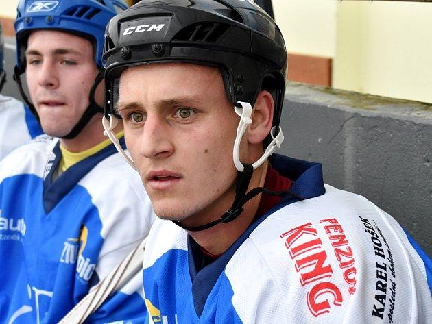 Patrik Čavoš patřil i v tradičním hokejovém utkání fotbalistů Dynama k oporám svého týmu.