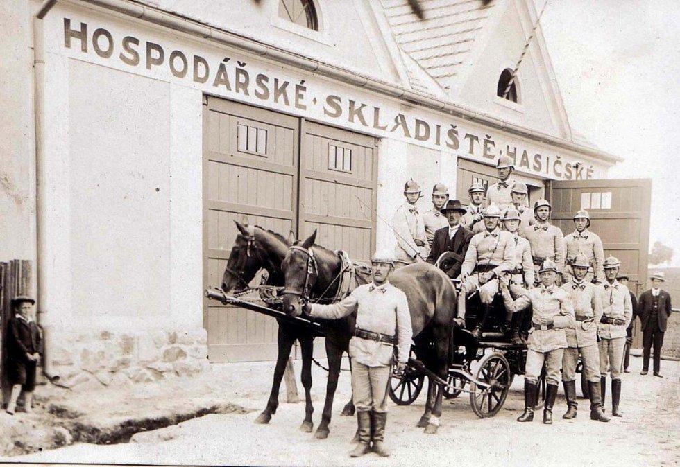 Ledenice v minulosti. Foto: archiv městysu Ledenice