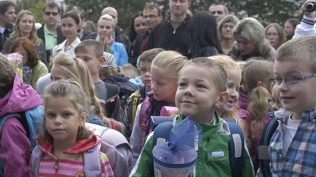 První školní den na ZŠ Bezdrevská na Vltavě.