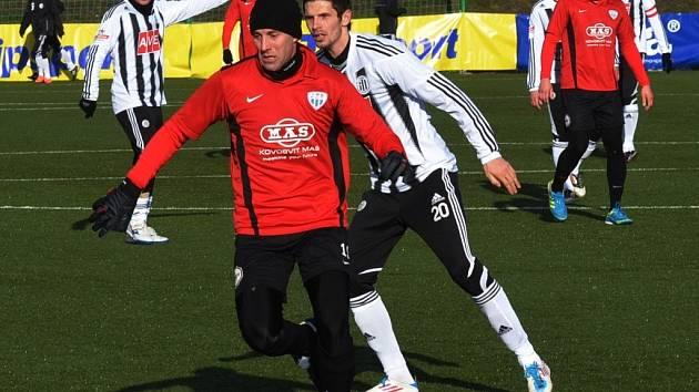 Petr Javorek v zápase Dynama s Táborskem v Tipsport lize stíhá Jana Šimáka.