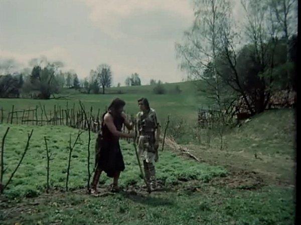 Zpolíčka sobilím nedůvěřivě odchází zraněný Křikavec. Sokol mu říká, že přišel moc brzy.