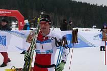 Šumavský skimaraton Kooperativy. Vítěz závodu na 46 kilometrů Thomas Freimuth