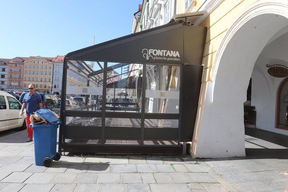 Restaurace Fontána na hlavním náměstí v Budějovicích.
