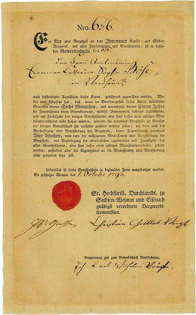 Goetheho cenný papír…