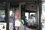 Stávka na Budějovicku. V autobusech ČSAD Jihotrans vládla pohoda.
