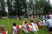 Fotbalové přípravky bojovaly o krásný pohár.