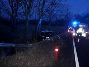 V sobotu ráno po nárazu do stromu zemřela u Češnovic na Budějovicku, na hlavním tahu z Budějovic na Prachatice řidička osobního auta.