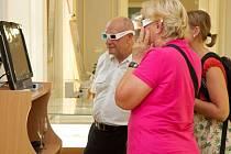 Výstava nabízí i 3D snímky.