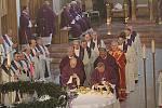 Pohřeb emeritního biskupa Jiřího Paďoura.