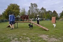 Psí park na sídlišti Vltava v Českých Budějovicích.