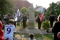 Odhalení pomníku Mistra Jana Husa v Dobré Vodě.
