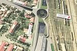 Takto měl podle původních plánu vypadat podjezd pod kolejištěm v centru Budějovic.