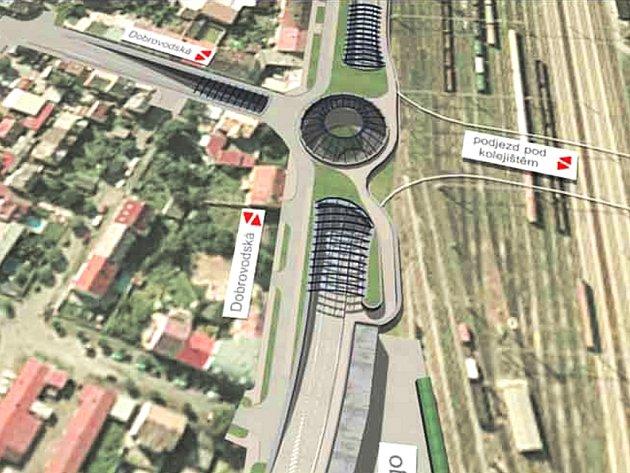 Takto by podle plánů měl vypadat podjezd pod kolejištěm v centru Budějovic.