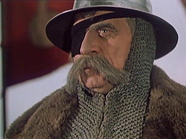 Záběr z filmu Jan Žižka, který se zčásti natáčel na jihu Čech. V hlavní roli Zdeněk Štěpánek.