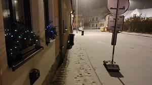 Sníh 3. prosince 2020 - jižní Čechy