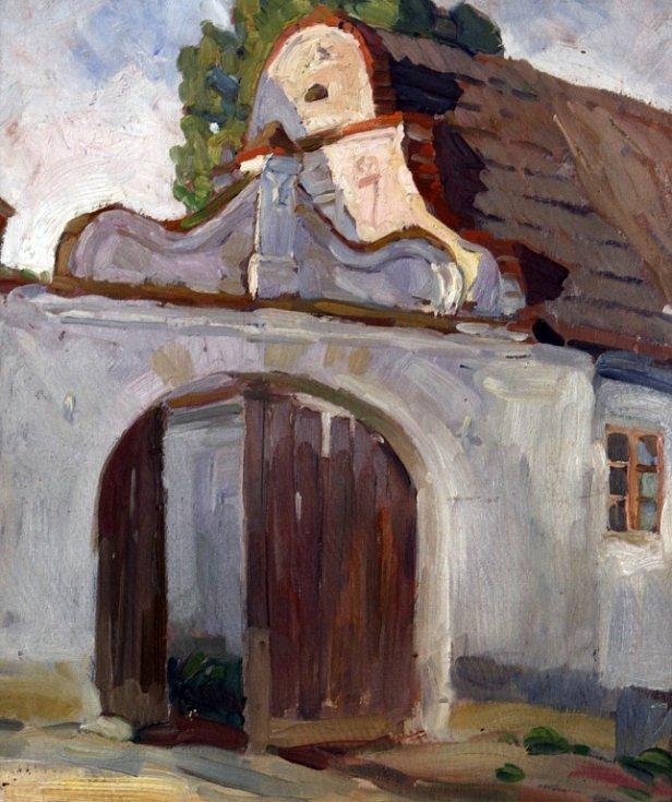 Jakub Bursa, zednický mistr z Vlachova Březí, je zpřítomněn výstavou v Městském muzeu ve Volyni. Na snímku jedno ze stavení, na němž se podílel.