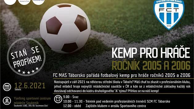 Fotbalisté FC MAS Táborsko pořádají kemp