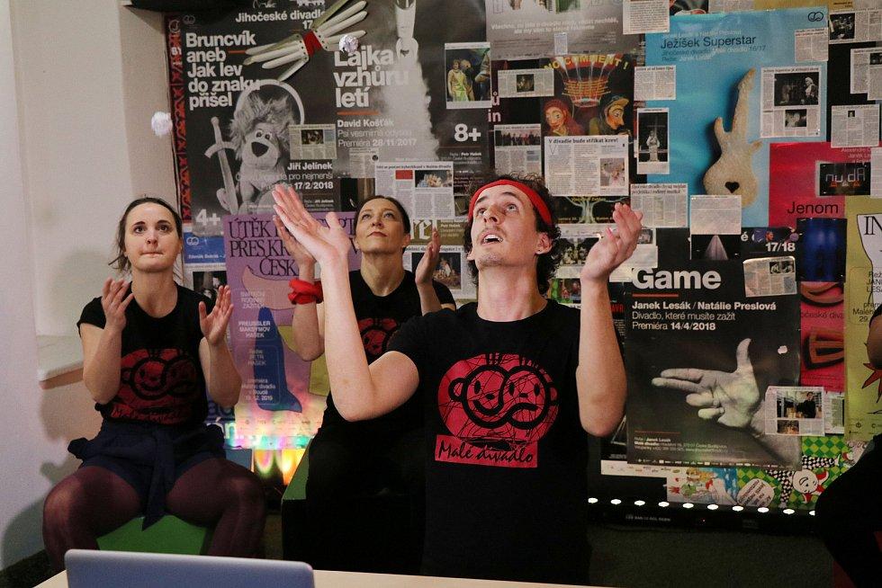 Nová on-line hra Malého divadla s názvem V.S.U.V.K.A.,aneb výuka s umělci v karanténě v Českých Budějovicích je určena pro děti 1. stupně základních škol a děti si mohou vybrat hudební nebo pohybovou složku.