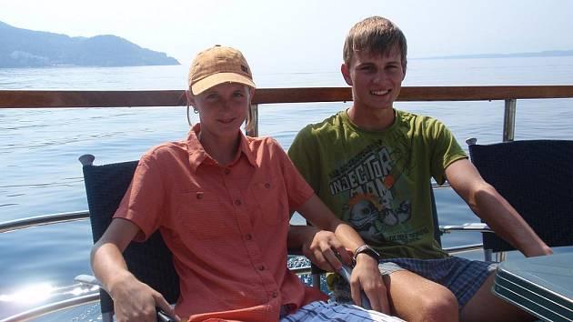 Lucie Sekanová s přítelem Josefem Krygarem