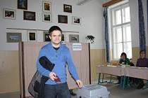 Jiří Mádl na jihu Čech spojil pracovní aktivity s volebními.