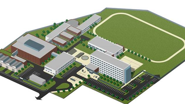 V areálu má vyrůst podnikatelský inkubátor a multifunkční studijní pavilon.