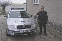 Policista Václav Haase jako člen pořádkové jednotky.