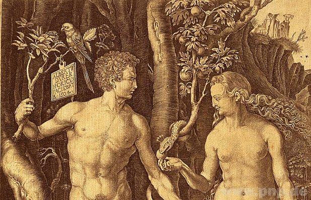 Dürerovi Adam a Eva vŘezně.