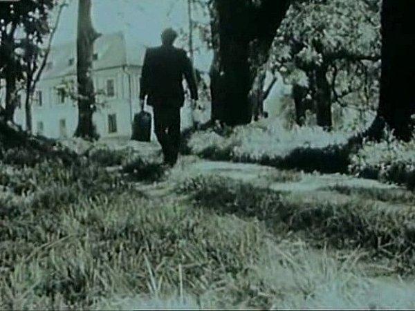 Zámek a park vČerveném Dvoře tvoří kulisy filmu Pavučina. Otec (Jiří Zahajský) jde navštívit dceru vléčebně.