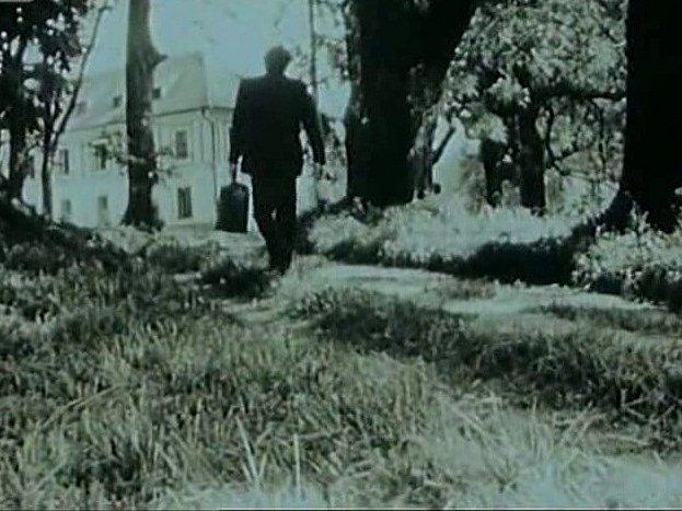 Zámek a park v Červeném Dvoře tvoří kulisy filmu Pavučina. Otec (Jiří Zahajský) jde navštívit dceru v léčebně.
