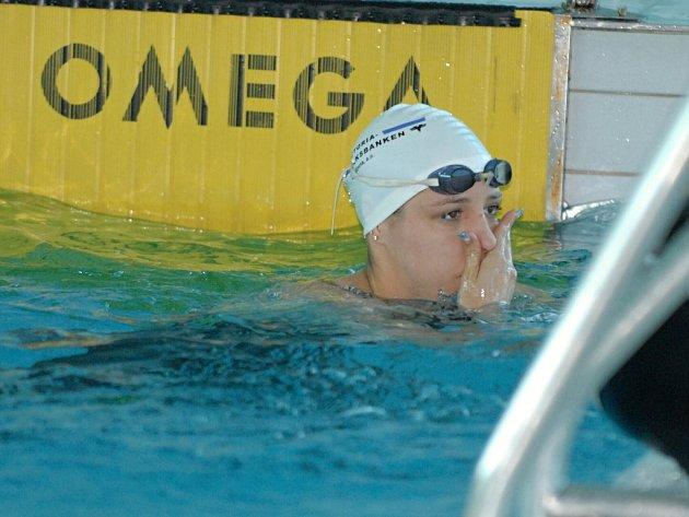Výkony české reprezentantky Petry Chocové byly ozdobou víkendové Velké ceny Českých Budějovic v plavání.  V rozplavbě na padesát metrů prsa vytvořila nový český rekord.