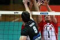 Semifinále volejbalové ligy mezi Jihostrojem a Příbramí.