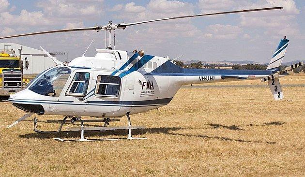 Typ vrtulníku, sjakým Meeker převážel uprchlíky.