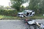 Střet dvou osobních vozidel si vyžádal tři zraněné.
