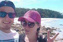 Jan Vlach a Aneta Davidová v Sydney. Snímek z loňska zachycuje čisté ovzduší.