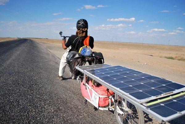 Spomocí slunce do Kazachstánu.