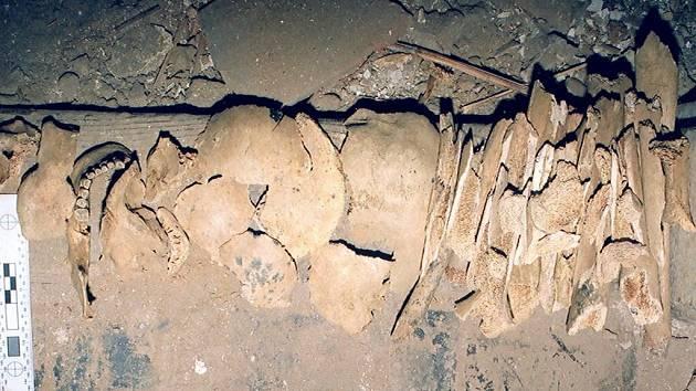Kosterní pozůstatky dospělého člověka a dítěte, které majitel domu v Týně nad Vltavou objevil při stavebních úpravách, mohou být mnoho desítek let staré.