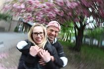 Jana Chrtová a David Modrý se políbili v krajském městě na Pražské.