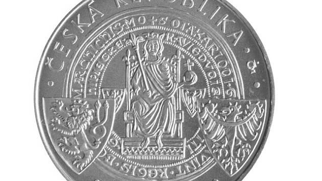 Pamětní minci k 750. výročí první zmínky o Českých Budějovicích vydala centrální banka v počtu 16 500 kusů.