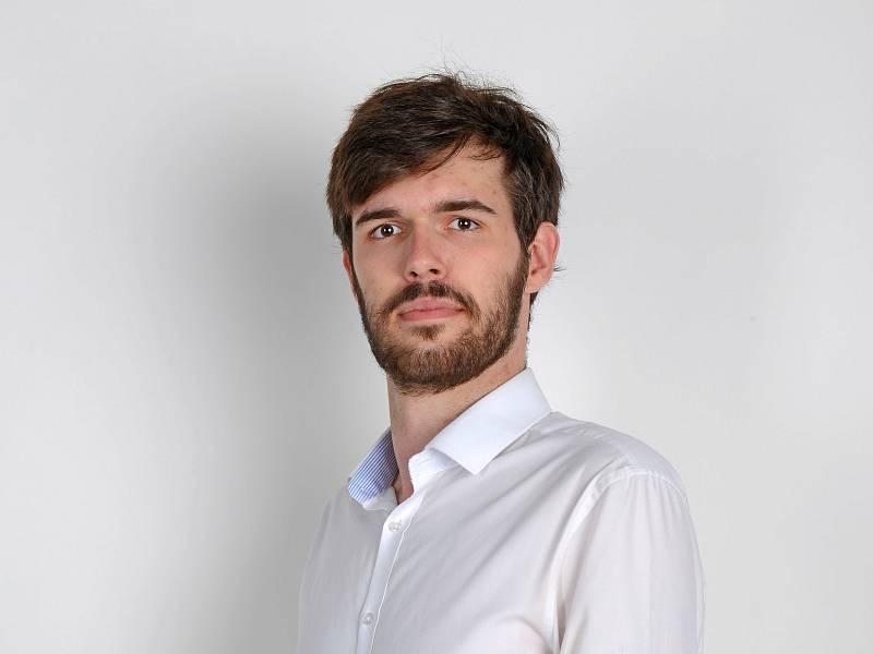 David Štafl, 22 let, podnikatel, student ekonomie, Včelná, člen Svobodní.