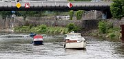 Na počest splavnění Vltavy se vypravily lodě společně na plavbu proti proudu do budějovické Lannovy loděnice.