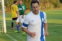 Josef Mikeska hájí v I.B fotbalu barvy Dolního Bukovska.