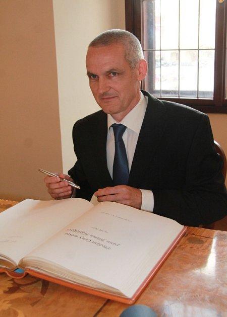 Spisovatel Jiří Hájíček, držitel ceny Kniha roku za román Rybí krev.
