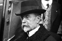 Masaryk při příjezdu do Tábora v roce 1918.