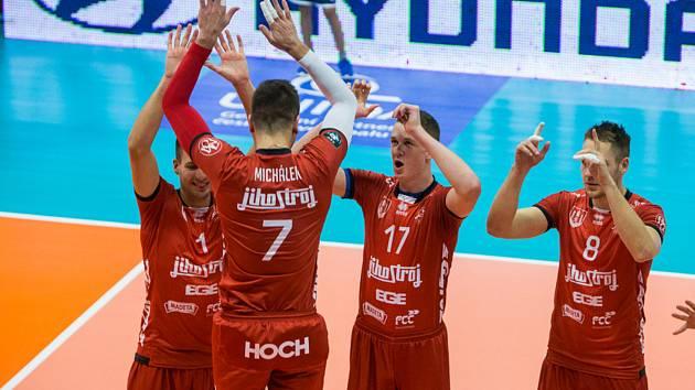 Jihostroj České Budějovice zvládl zápas v hale nováčka extraligy.